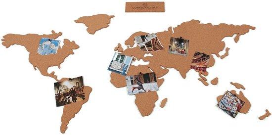 wereldkaart in kurk