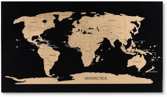 Wereldkaart kraskaart