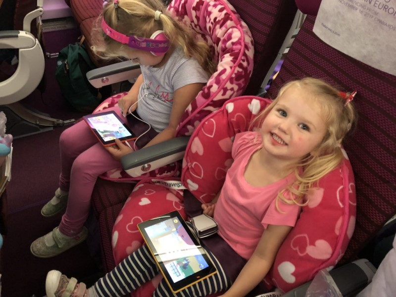Carrie's daughters love this airplane seat toddler