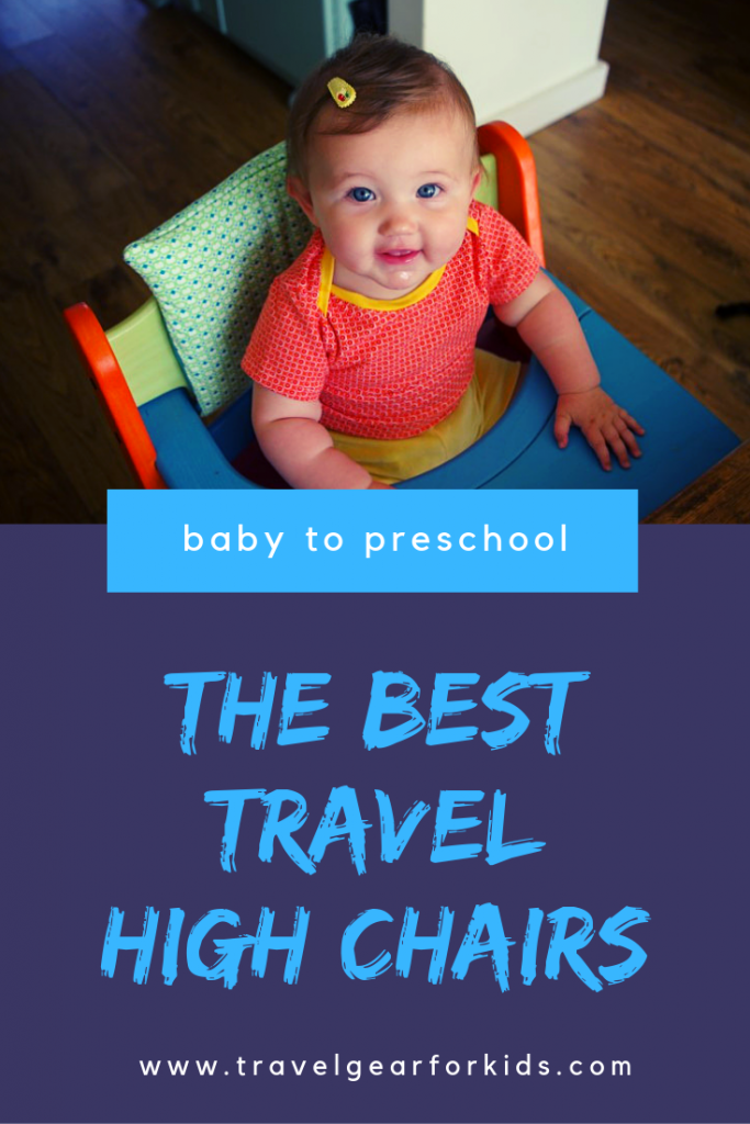 pinterest link to our article on the best travel high chairs