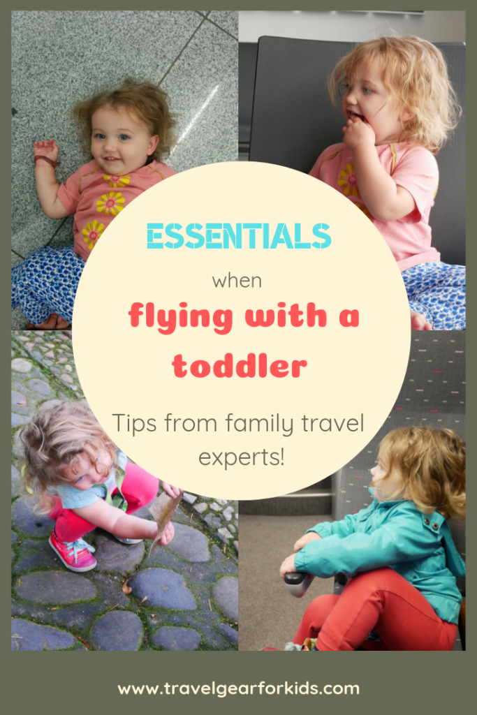 pinterest link to our article on essentials for flying with a toddler
