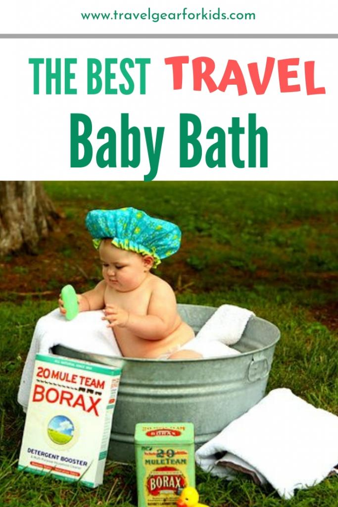 our guide to the best travel baby bath - pinterest link