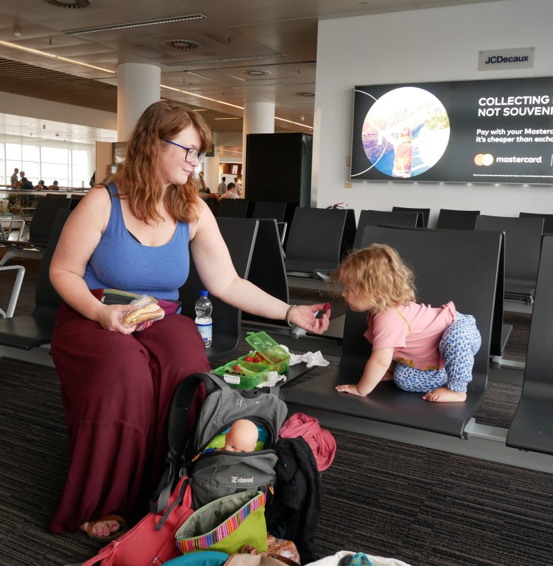 traveling with a toddler on a plane to Malaysia