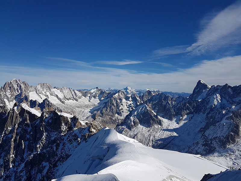 awesome views on the Mont Blanc