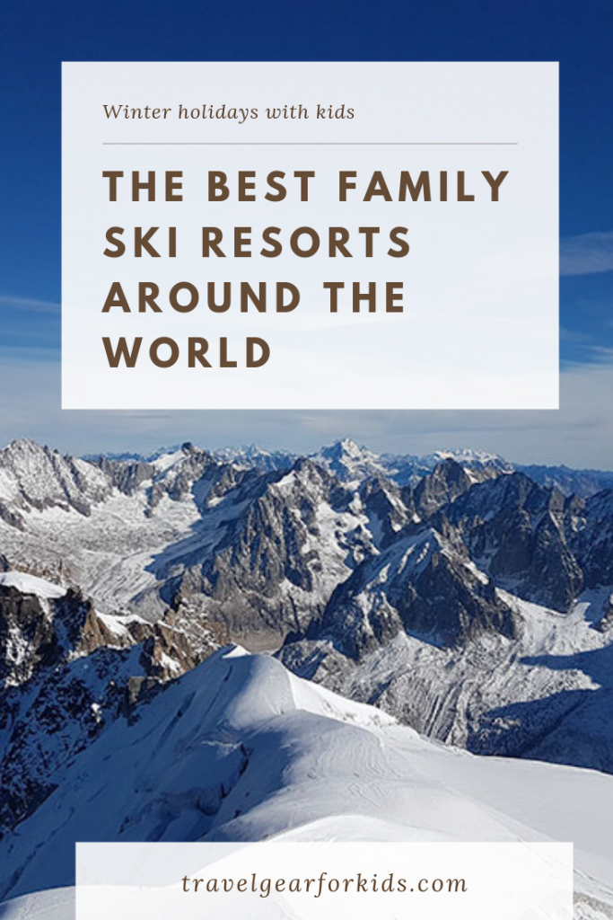 Best family ski resorts around the world - pinterest image