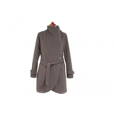 example of the Classic grey Angel Wings woolen coat